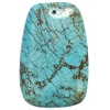 Turquoise Rectangle 59x39x10mm Stabilized Green